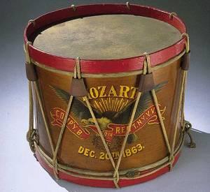 Drum carried by John Unger, Company B, 40th Regiment New York Veteran Volunteer Infantry Mozart Regiment, December 20, 1863t