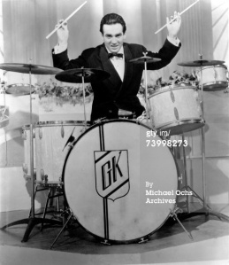 The legendary Big Band drummer was one of the first high-profile drummers, with his movie-star looks, incredible stage presence and time spent in chokey. Krupa's tribal style playing with the Benny Goodman band set the template for showman drummers ever since.