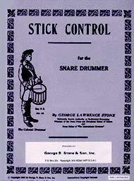STICK CONTROL FOR THE SNARE DRUMMER by George Lawrence Stone (Alfred) This book was at the very top of the popularity list. For decades it has been used by drummers and percussionists of all genres to develop the hands as well as hand/foot coordination.