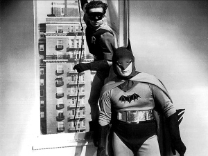 Johnny Duncan & Robert Lowery in the 1949 film Batman and Robin